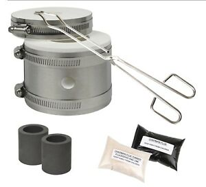 Mini Propane GPK Kwik Kiln Furnace Kit Smelting Gold Silver Copper Metal Scrap with Tongs Mold and Flux