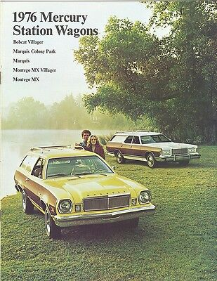 + 1976 Mercury Station Wagons Brochure Montego Marquis