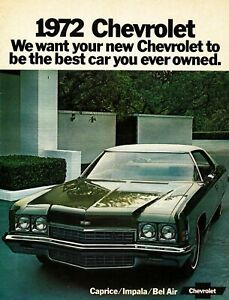 CHEVROLET-CAPRICE-IMPALA-BEL-AIR-US-Car-Prospekt-Brochure-USA-1972-L