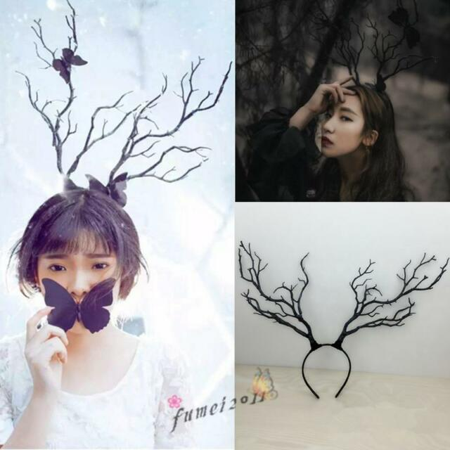 giant luxury xmas halloween party adult reindeer antlers headband cosplay props