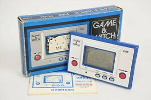 LCD-FIRE-Game-Watch-Boxed-RC-04-Ref-1444-Tested-Nintendo-JAPAN-Game