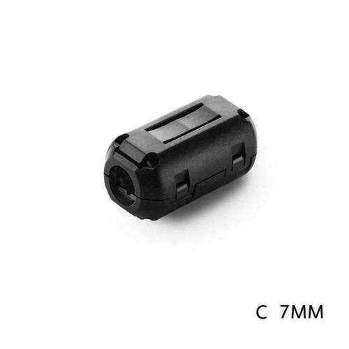 Cable Clips Clip-on Ferrite Ring Core RFI EMI Noise Bead NEW Suppressor T5H7
