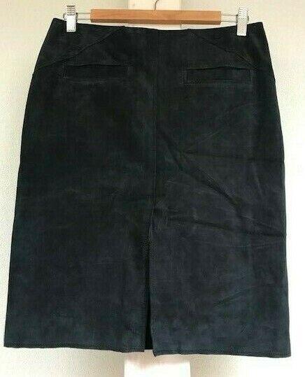 NWT luxury Barbara Bui skirt Blau genuine suede skirt damen 38 France 6US  975