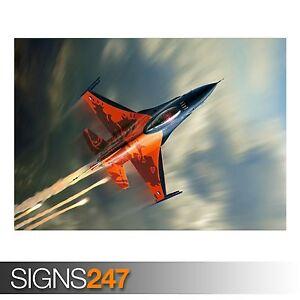 F-16-Fighting-Falcon-4027-cuadro-arte-cartel-impresion-de-foto-A0-A1-A2-A3-A4