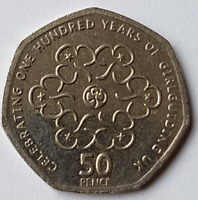 2010 100 Years of Girlguiding 50p Coin Collectable Circulated British 50 Pence