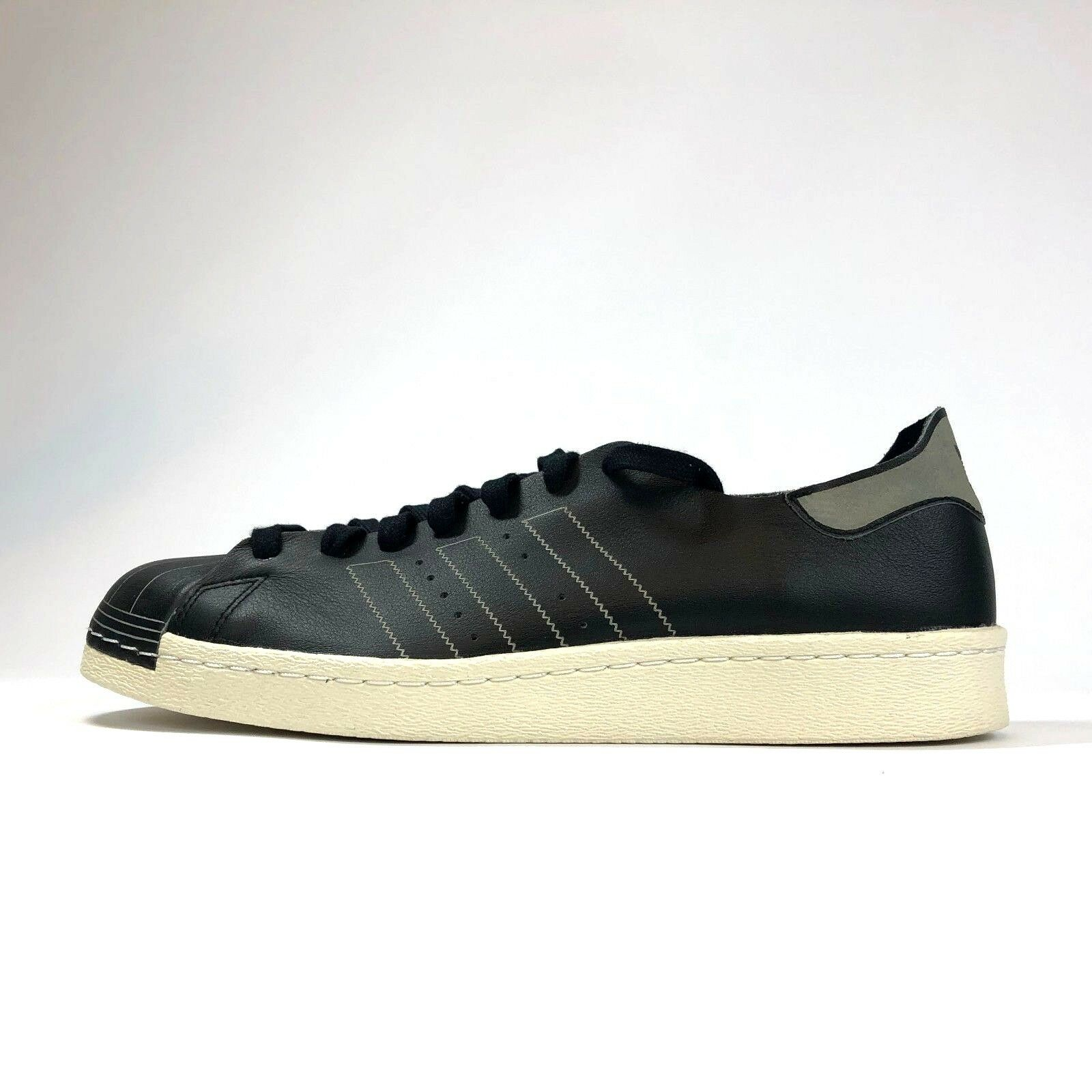 Adidas Superstar 80s Decon BZ0110 Core Black Leather Basketball shoes Mens 11