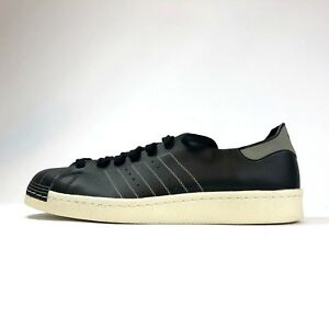ADIDAS SUPERSTAR 80S Decon Black Vtg White Size 12 Leather Sneakers Shoes BZ0110