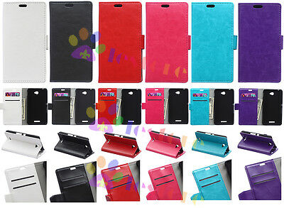 Leather Wallet Holder Card Case Stand Cover For Samsung Series Smart Phone SF