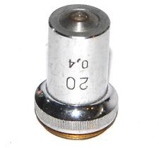 Soviet Lens Objective For Microscope 20x 04