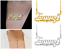 thumbnail 6 - Personalized FINE Sterling Silver 14K Gold ANY Name Plate Necklace + Free Chain