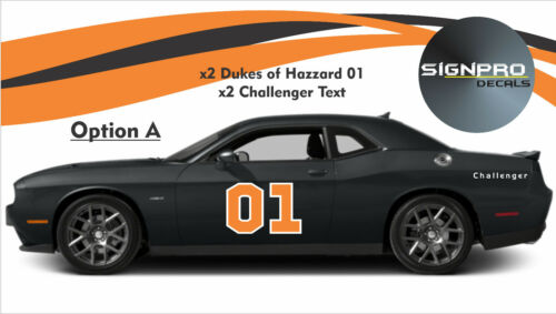 Dukes of hazzard General Lee door decal sticker 01 decal kit + Side Text