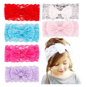 Turban-Hairband-Girls-Lace-Bow-Knot-Headwrap-Soft-Cute-Baby-Headband-Accessories