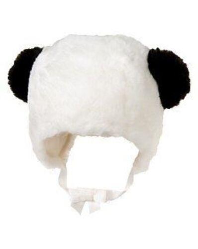 GYMBOREE PANDA BLOSSOM IVORY PANDA w// EARS FUR HAT 0 3 6 12 18 24 NWT