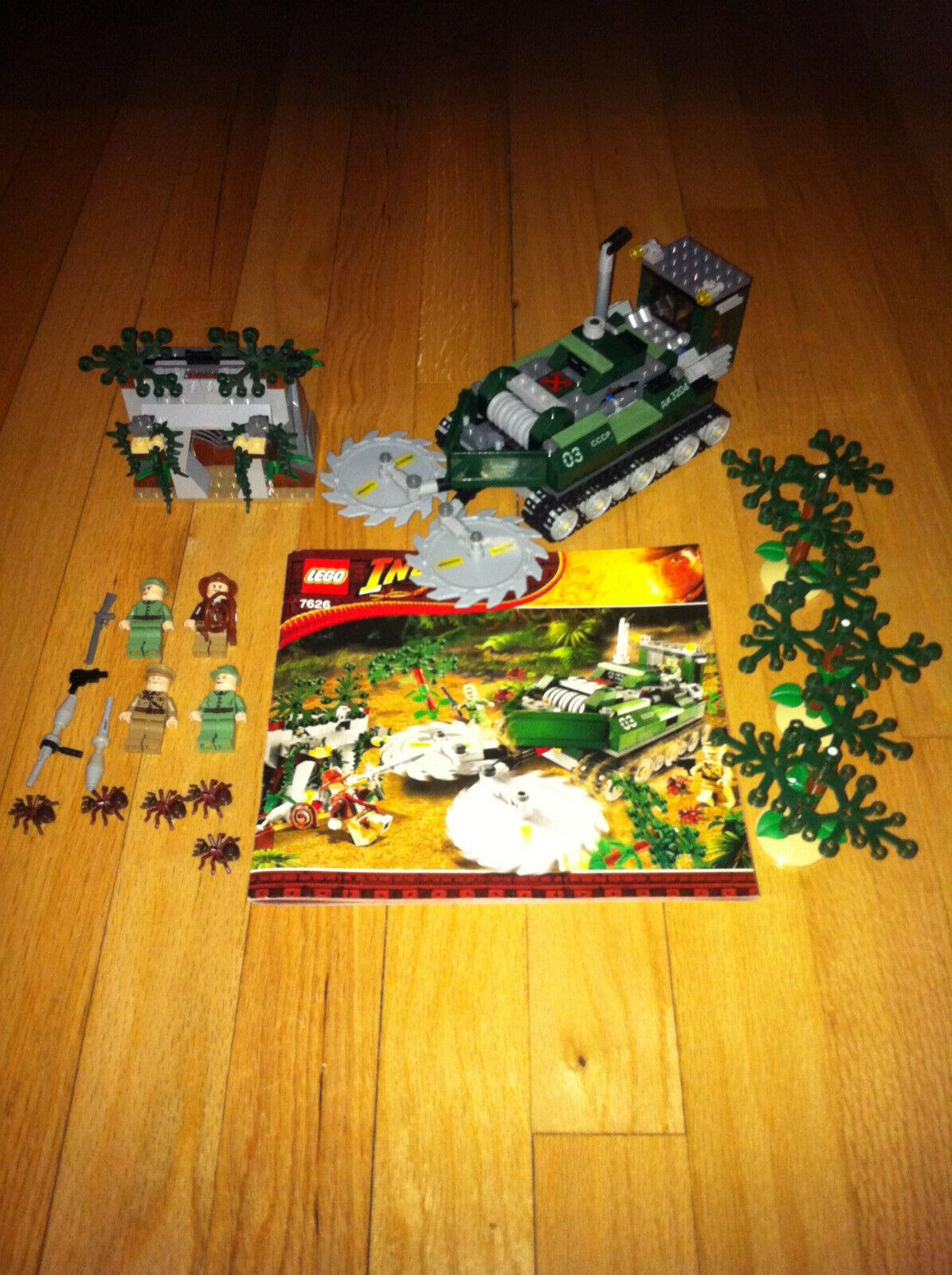 2008 Lego Indiana Jones  Jungle Cutter  7626 completare w uomoual & Minifigs  nuovo di marca