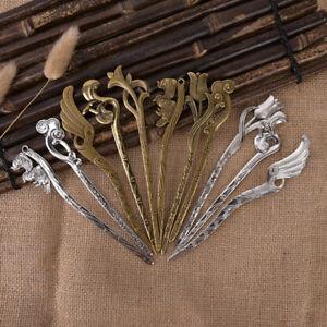 Vintage-metal-hair-chopsticks-hair-stick-hairpin-fork-hair-women-accessor-Fy