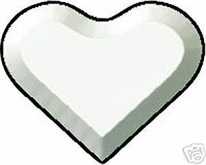 Stained Glass Supplies 2-4 inch Clear Heart Bevels BC414