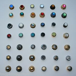 UFO Potiknopf für Strat schwarz verschiedene Inlays Custom Order Potiknöpfe knob