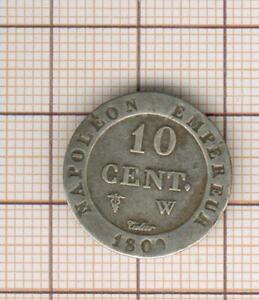 Pretty 10 C Of Billon Napoleon The1st 1809 W Lille