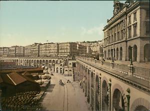 Alger-Palais-consulaire-et-boulevard-de-la-Republique-PZ-vintage-photochromie