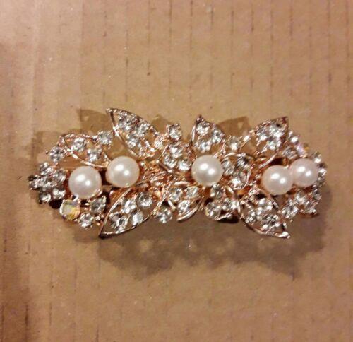 Pearls Hair Clips Women Fashion Geometric Flower Headwear Girls Sweet Hairpins