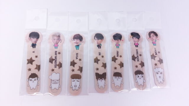 BTS Bang Tan Boys Book Mark V Jhope Jimin Jung Kook Jin Rap Suga Favorites Note