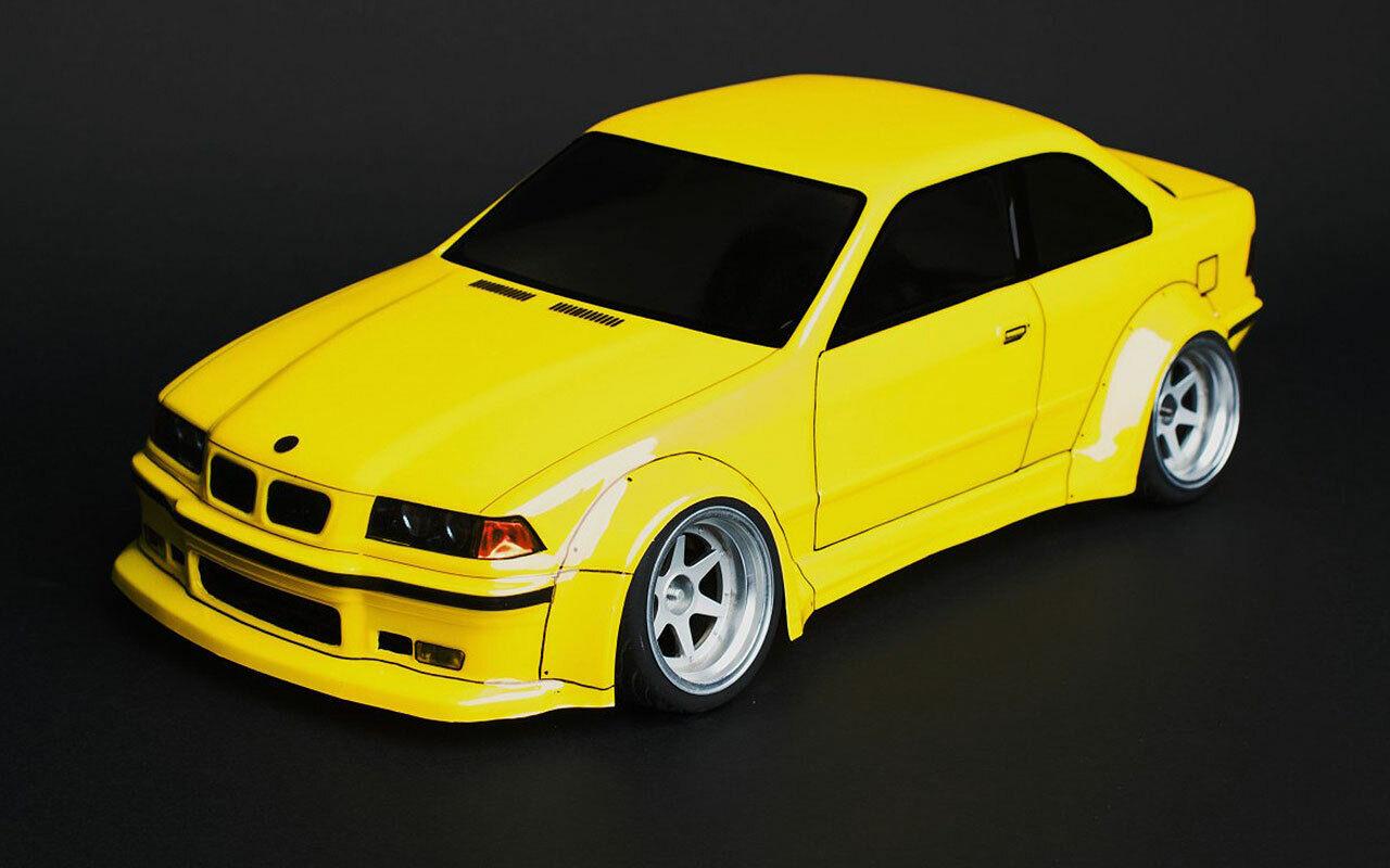 BMW e36 m3 Wide Body Body Body Clear Drift Body 1 10 scale to fit MST Yokomo TAMIYA LRP HP 913a70