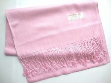 NEW Pashmina Fall Spring Scarf Scarves Silk Lavender Pink Solid Shawl Wrap Range
