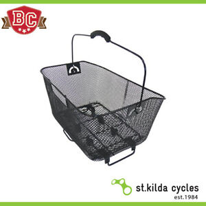 Super Square Bicycle Shopper Basket Front Fitting Cycle White Mesh Wire Basket