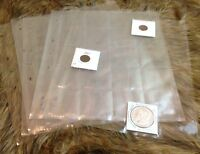 Clear-file Format 21b Archival Film Slide Page / 2 X 2 Coin Holder 10 Sheets