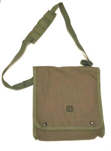 US-Made-Canvas-Map-amp-Photograph-Case-with-Adjustable-Shoulder-Strap-Free-Ship