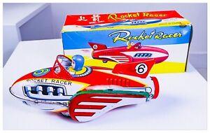 Gioco-Latta-Vintage-Tin-Toy-Rocket-Racer-MF-735-Made-in-China-Anni-60-con-Box