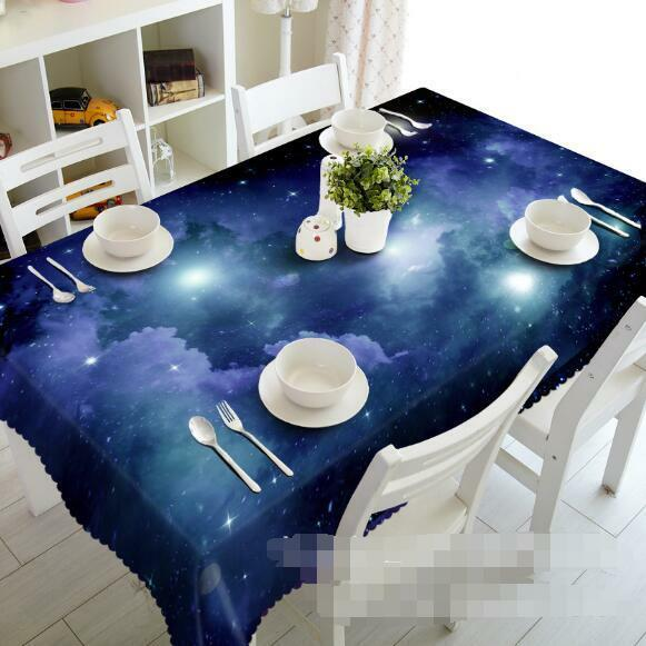 3D Stars 764 Tablecloth Table Cover Cloth Birthday Party Event AJ WALLPAPER AU