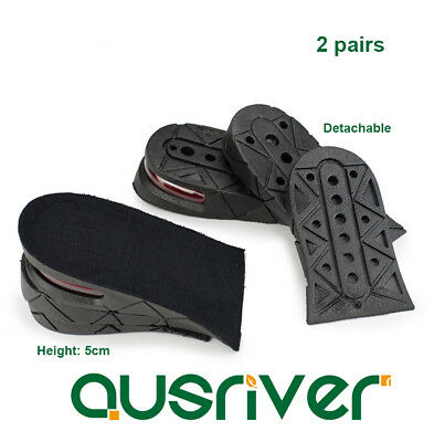 2 Pairs Shoes Insoles Height Increase Air Cushion 3//5//7CM Heel Lifts Detachable