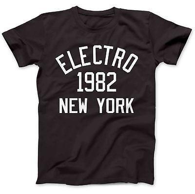 Electro Music 1982 T-shirt 100% Cotone Premium Tr-808 Planet Rock Drexciya-mostra Il Titolo Originale Design Professionale