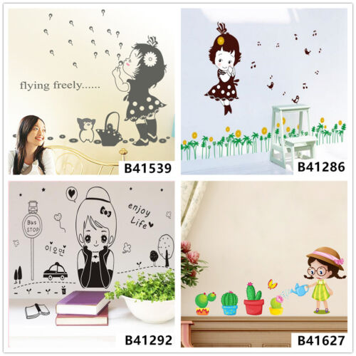 Lovely Girl Life Home Bedroom Decor Removable Wall Sticker Decal Decoration