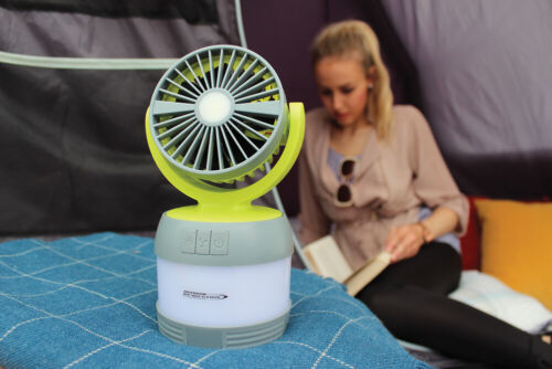 2020 Outdoor REVOLUTION 3 en 1 Rechargeable USB Lumi Ventilateur//Spot ORBK 0014