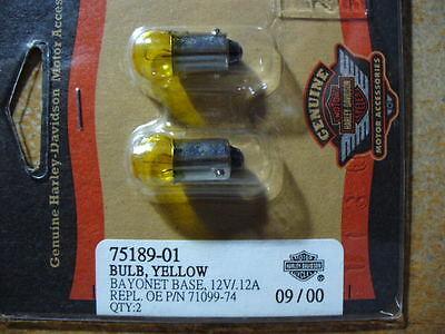 75192-01 HARLEY YELLOW LIGHT BULBS 1PR