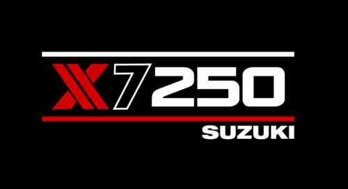 X-L M L SUZUKI X7 250 MOTO OMAGGIO T Shirt Design Rosso Taglia S