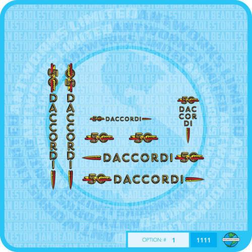 Daccordi Fahrrad Abziehbilder Transfers Aufklebe Set 1