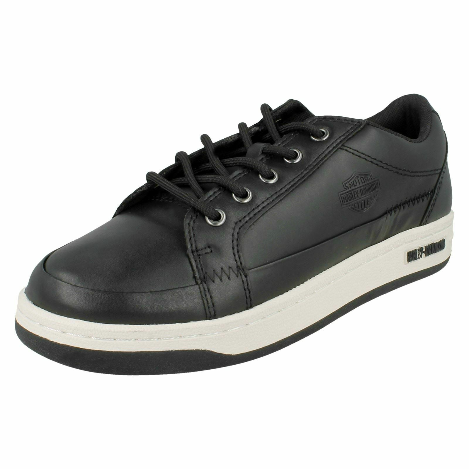 Mens Harley-Davidson Leather Trainers Jez 'D93133'