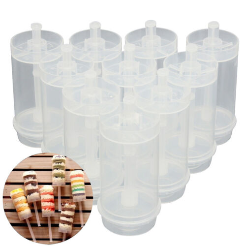 5 Pcs Clear Push Up Container Cake Dessert Shooter Party Birthday With Lids New