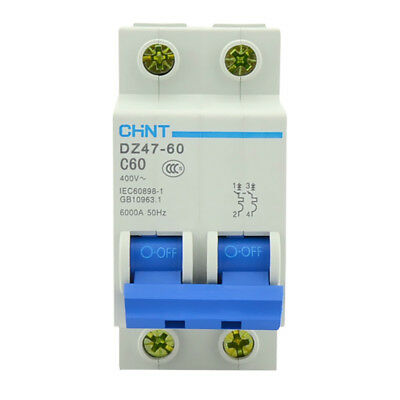 DZ47-60 C16 AC230//400V 2P 16A Rated Current 2 Pole Miniature Circuit Breaker