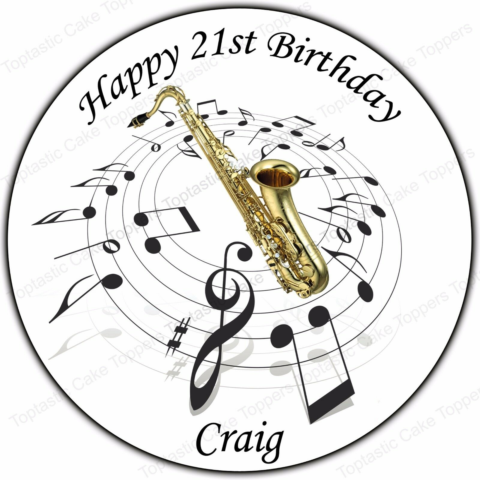 Woodwind Instruments Music Notes Precut Wafer Paper Party Cupcake Toppers Sax Decorations & Cake Toppers