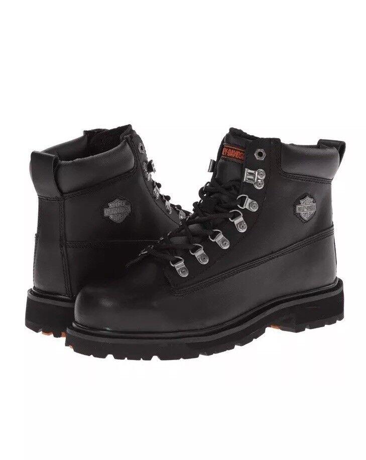 Unidad De Hombre Harley-Davidson Motocicleta botas Puntera De Acero Negro D91144