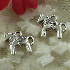 free ship 54 pieces Antique silver wolf dog charms 21x15mm #3648