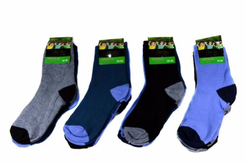 12 Pair Kids Boys Socks Children Stockings 85/% Cotton a.S-100 Size 23-38
