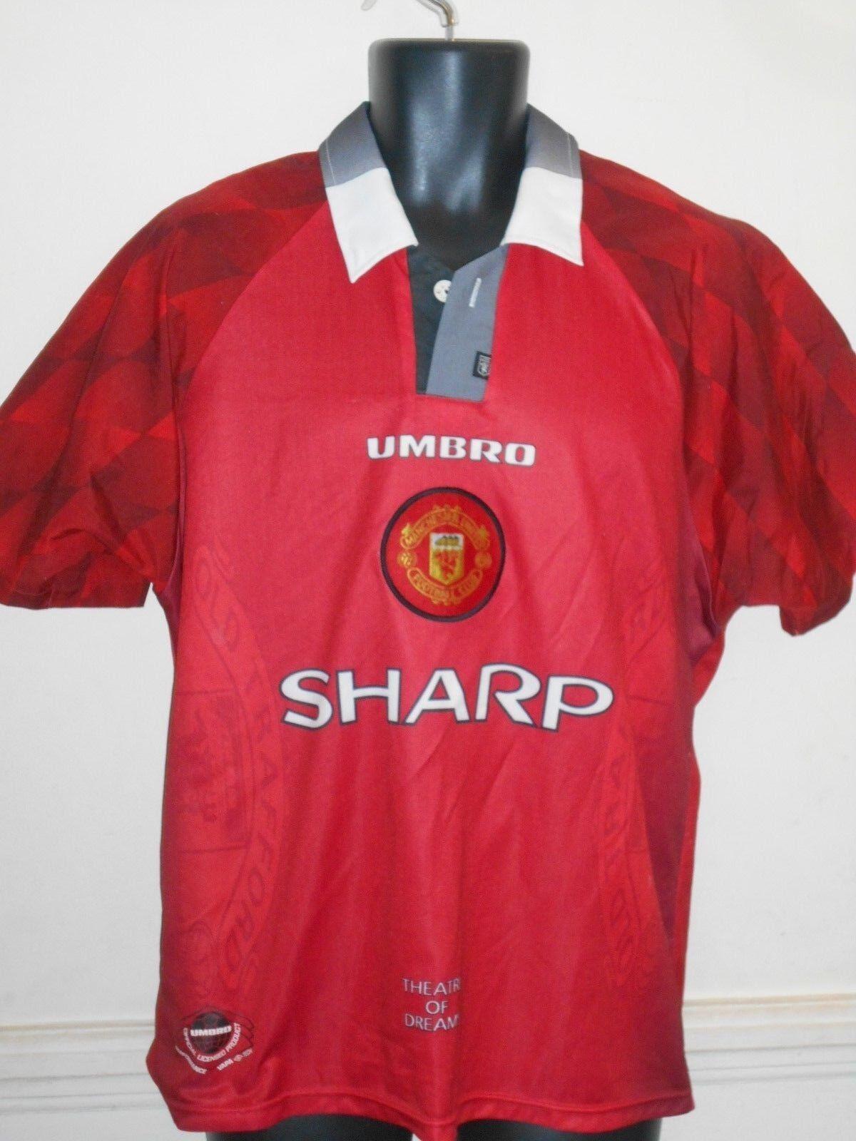 RARE Manchester United Calcio Casa Maglietta 19971998  GIGGS 11 MEDIUM uomo  936