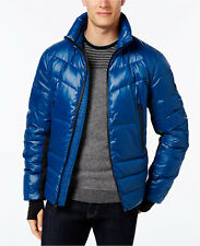$815 MICHAEL KORS MENS BLUE SKI Stretch-Panel PUFFER DOWN COAT WINTER JACKET L