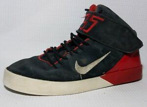 6cd2afd21abd Nike KD Kevin Durant Vulc Mid Black Red 685495 004 Boys 4.5 Youth ...