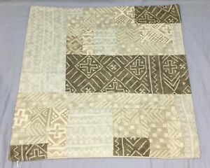 Pottery Barn Neutral Pauline Boyd Patchwork Pillow Cover